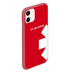 Чехол iPhone 11 матовый RHCP: Red Style цвета 3D-красный — фото 2