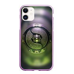 Чехол iPhone 11 матовый The International: Aegis 2018 цвета 3D-сиреневый — фото 1
