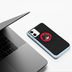 Чехол iPhone 11 матовый Хитрый Зак цвета 3D-голубой — фото 2