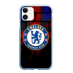 Чехол iPhone 11 матовый Chelsea цвета 3D-голубой — фото 1