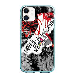 Чехол iPhone 11 матовый Green Day - Father of All MF цвета 3D-мятный — фото 1