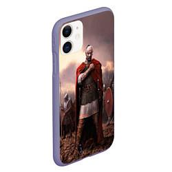 Чехол iPhone 11 матовый Князь Святослав Игоревич цвета 3D-серый — фото 2