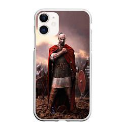 Чехол iPhone 11 матовый Князь Святослав Игоревич цвета 3D-белый — фото 1