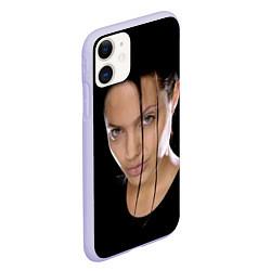 Чехол iPhone 11 матовый Tomb Rider цвета 3D-светло-сиреневый — фото 2