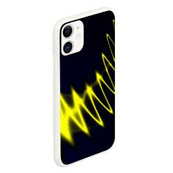 Чехол iPhone 11 матовый Молния цвета 3D-белый — фото 2