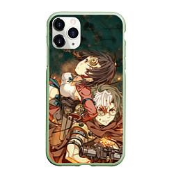 Чехол iPhone 11 Pro матовый Воин крепости цвета 3D-салатовый — фото 1