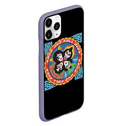 Чехол iPhone 11 Pro матовый KISS: Over цвета 3D-серый — фото 2