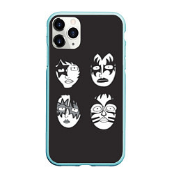 Чехол iPhone 11 Pro матовый KISS Mask цвета 3D-мятный — фото 1