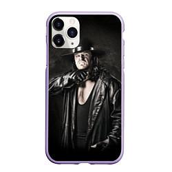 Чехол iPhone 11 Pro матовый Гробовщик 2 цвета 3D-светло-сиреневый — фото 1