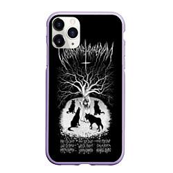 Чехол iPhone 11 Pro матовый Wolves in the Throne Room цвета 3D-светло-сиреневый — фото 1