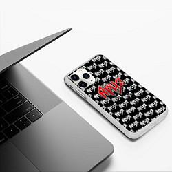 Чехол iPhone 11 Pro матовый Ария цвета 3D-белый — фото 2