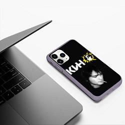 Чехол iPhone 11 Pro матовый Цой цвета 3D-серый — фото 2