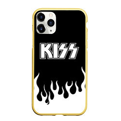 Чехол iPhone 11 Pro матовый Kiss цвета 3D-желтый — фото 1