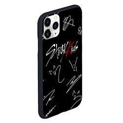 Чехол iPhone 11 Pro матовый STRAY KIDS цвета 3D-черный — фото 2