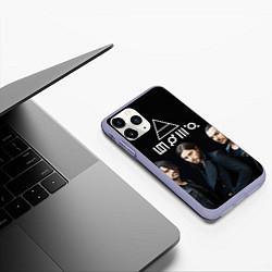 Чехол iPhone 11 Pro матовый 30 seconds to mars цвета 3D-светло-сиреневый — фото 2