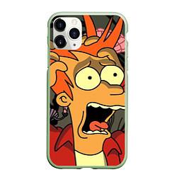 Чехол iPhone 11 Pro матовый Frai Horrified цвета 3D-салатовый — фото 1