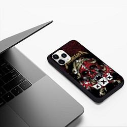 Чехол iPhone 11 Pro матовый Metallica: XXX цвета 3D-черный — фото 2