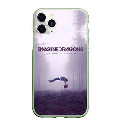 Чехол iPhone 11 Pro матовый Imagine Dragons: Silence цвета 3D-салатовый — фото 1