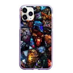 Чехол iPhone 11 Pro матовый Dota 2: All Pick цвета 3D-светло-сиреневый — фото 1