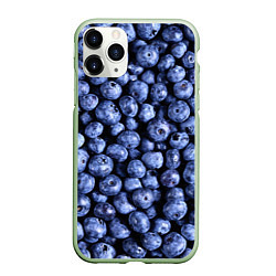 Чехол iPhone 11 Pro матовый Черника цвета 3D-салатовый — фото 1