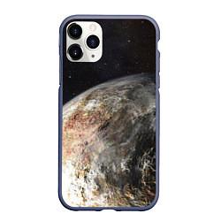 Чехол для iPhone 11 Pro матовый с принтом Плутон, цвет: 3D-серый, артикул: 10065238405909 — фото 1