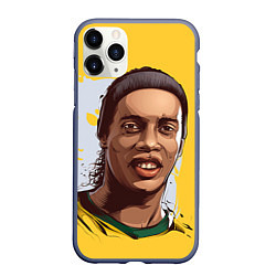 Чехол iPhone 11 Pro матовый Ronaldinho Art цвета 3D-серый — фото 1