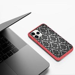 Чехол iPhone 11 Pro матовый Гламурный узор цвета 3D-красный — фото 2