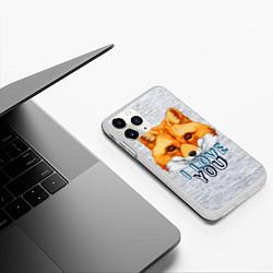 Чехол iPhone 11 Pro матовый Милая лисичка! цвета 3D-белый — фото 2