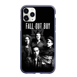 Чехол iPhone 11 Pro матовый Fall out boy band цвета 3D-серый — фото 1