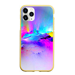 Чехол iPhone 11 Pro матовый Абстракция цвета 3D-желтый — фото 1