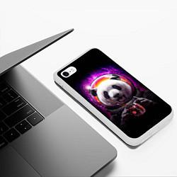 Чехол iPhone 6/6S Plus матовый Panda Cosmonaut цвета 3D-белый — фото 2