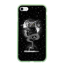 Чехол для iPhone 6/6S Plus матовый с принтом Ночная сова, цвет: 3D-салатовый, артикул: 10114653205961 — фото 1