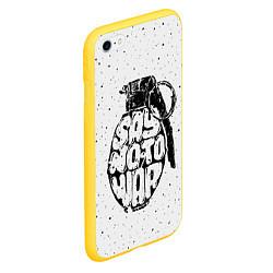 Чехол iPhone 6/6S Plus матовый Say no to War цвета 3D-желтый — фото 2