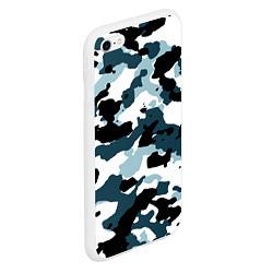 Чехол iPhone 6/6S Plus матовый Камуфляж зимний: пятна цвета 3D-белый — фото 2