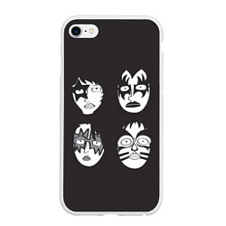 Чехол iPhone 6/6S Plus матовый KISS Mask цвета 3D-белый — фото 1