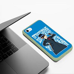 Чехол iPhone 6/6S Plus матовый Девушки водку не пьют цвета 3D-салатовый — фото 2
