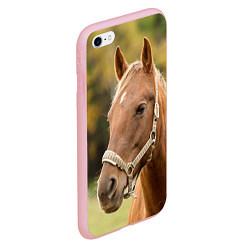 Чехол iPhone 6/6S Plus матовый Взгляд лошади цвета 3D-баблгам — фото 2
