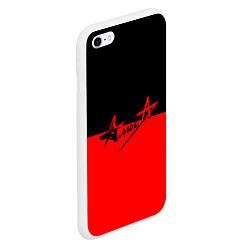 Чехол iPhone 6/6S Plus матовый АлисА: Черный & Красный цвета 3D-белый — фото 2