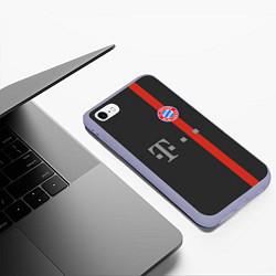 Чехол iPhone 6/6S Plus матовый Bayern FC: Black 2018 цвета 3D-светло-сиреневый — фото 2