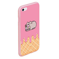 Чехол iPhone 6/6S Plus матовый Pusheen Ice Cream цвета 3D-баблгам — фото 2