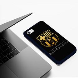 Чехол iPhone 6/6S Plus матовый Barcelona Gold Edition цвета 3D-черный — фото 2