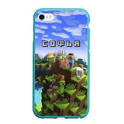 Чехол iPhone 6/6S Plus матовый Майнкрафт: Софья цвета 3D-мятный — фото 1