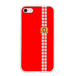Чехол iPhone 6/6S Plus матовый Грузия цвета 3D-белый — фото 1
