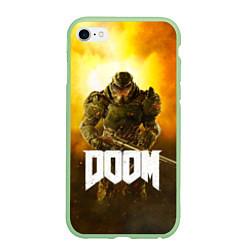 Чехол iPhone 6/6S Plus матовый DOOM: Soldier цвета 3D-салатовый — фото 1