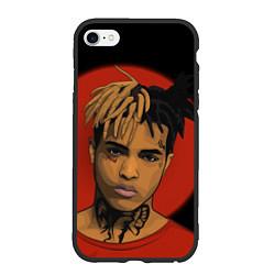 Чехол iPhone 6/6S Plus матовый XXXTentacion: Red Sun цвета 3D-черный — фото 1