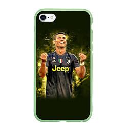 Чехол iPhone 6/6S Plus матовый Ronaldo: Juve Sport цвета 3D-салатовый — фото 1