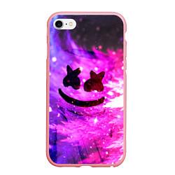 Чехол iPhone 6/6S Plus матовый Marshmello Lights цвета 3D-баблгам — фото 1