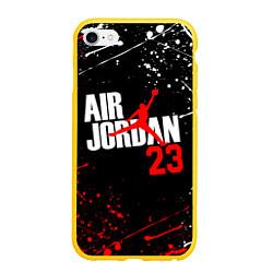 Чехол iPhone 6/6S Plus матовый MICHAEL JORDAN цвета 3D-желтый — фото 1