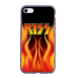 Чехол iPhone 6/6S Plus матовый KISS цвета 3D-серый — фото 1