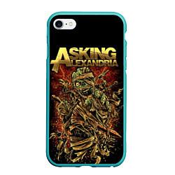 Чехол iPhone 6/6S Plus матовый Asking Alexandria цвета 3D-мятный — фото 1